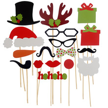 Buy Hot 17pcs/Set Photo Booth Props Funny Birthday Party Wedding Mask Moustache Photo Booth Stick Photography Cosplay Halloween Mask for $1.40 in AliExpress store