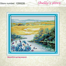 Beautiful spring season Paint Counted or Stampted Cross Stitch 11CT 14CT Cross Stitch Kits for Embroidery  Needlework hot