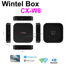 Original Windows TV Box Wintel CX-W8 Mini PC & Android Dual OS TV Box Mini PC Windows 8.1 W8 2GB/32GB Intel Atom Z3735F(China)