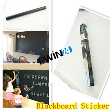 1PCS Blackboard Sticker Magic Self-Stick Black Blackboard Chalkboard White Dry Erase Board Sticker Sheet(China)