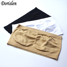 Dorislen 300pcs(100sets) Women Seamless Bandeau Bra Without Pads Tube Bras Crop Top By DHL