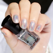 1pc 6ml 15colors New Diamond Laser Nail Polish Pretty Shiny mirror glitter Nail Art Holographic long-lasting Nail Polish(China)