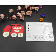 New Fire Truck Metal Cutting Dies Stencils for DIY Scrapbooking Photo Album Decorative Embossing DIY Paper Cards Crafts Die Cuts(China)