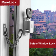 Rarelock Christmas Supplies Window Chain Lock with Keys for Sliding Door Bathroom Balcony Baby Care Anti-thief Home DIY a(China)