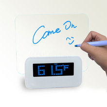 1pc Digital Blue LED Alarm Clocks Fluorescent Projection Desktop Clock Message Board USB 4 Port Hub Relogio Clock