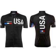 Promotion selling 2016 popular design bottom price team USA outdoor sport biking jersey only maillot italy ink some size