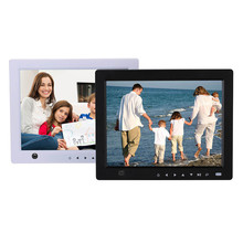 2W Speaker 10-Inch Front Touch Screen Sensor Digital Photo Frame LED USB MP3 Video Player Support 32GB SD Cards #S(China)