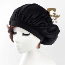 New women Donna Sleep Cap wide band satin Bonnet cap turban headband Soft Comfortable G1