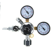 Bar Accessories Commercial CO2 Regulator Beer Brewing Kegerator Dual Gauge Valve Shutoff NEW Beer Carbon Dioxide Reducer(China)