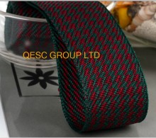 NEW 38MM GREEN RED Houndstooth hemp cotton ribbon Plaid ribbon for fascinator hair accessory dress hat bag decoration belt