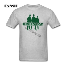 Green Day Punk Band Men Tshirts Multi-color Shirt Men Custom Cotton Short Sleeve XS-3XL Brand Clothing For Teenage