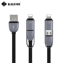 Buy KALUOS 2-In-1 Universal Charger Cable 8-Pin+Micro USB Data Sync Charge Cable iPhone 5/6 5S/6S 7 Samsung Android Phone Cable for $1.50 in AliExpress store
