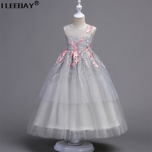 Mom Daughter Princess Dress for Wedding Party Big Flower Girl Long Dress Daughter Mother Girl Matching Clothes Family Look(China)