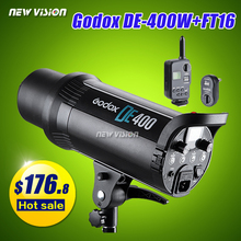 Godox DE400 400W Studio Flash Strobe Light Head+ FT-16 Flash Trigger Set 220V