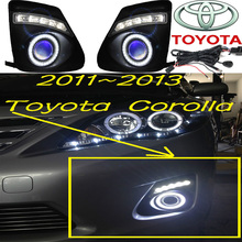 Corolla fog light LED,2011~2013;Free ship!Corolla daytime light,2ps/set+wire ON/OFF;optional:Halogen/HID XENON+Ballast,Corolla