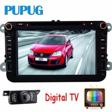 Digital TV Quad Core Android4.4 Car DVD GPS FOR VW GOLF 5 6 POLO JETTA TOURAN PASSAT TIGUAN SHARAN SCIROCCO Caddy FABIA+Camera