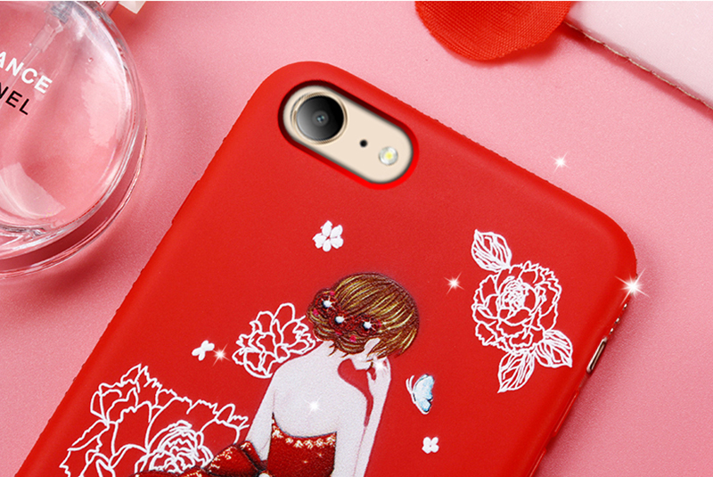 dress girl silicone case iphone 6 s 7 8 plus (13)
