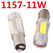 2pcs/lot New 1157 11W 5 Led Car Light COB Auto High Power Car Led Brake Light Bulb Lamps for Ford Focus White Red FREE SHIPPING