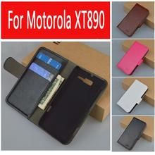 Leather Flip Case For Motorola Razr i XT890 Cover Skin, Leather with Card Holder,