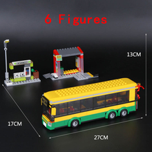 Lepin 377pcs City Town Building Blocks Bus Station Newsstand Model Bricks Gift Toys Compatible With Lego 60154(China)