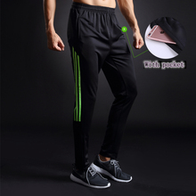 2017 Men/Kids Running Pants Football Training Soccer Pant Jogging Trousers Skinny Sports Leggings fitness GYM Sweatpants XXS-4XL