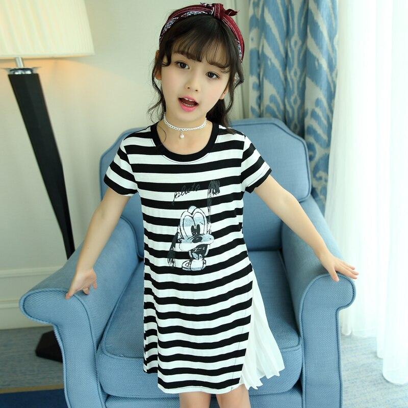 Striped Casual Shirt Dress Summer Wear 2017 Sundress Brand Costume For Kids Teenagers 5 6 7 8 9 10 11 12 13 14 15 16t Dress<br>