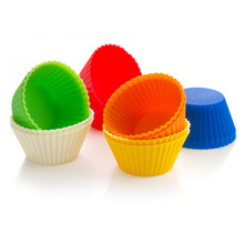 Bestselling 24 pcs Silicone Cake Cupcake Liner Baking Cup Mold Muffin Round Cup Cake Tool Bakeware Baking Pastry Tools Kitchen