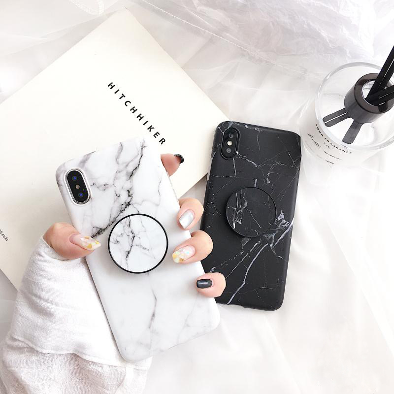 For-iphone-6s-6-X-7-8-Plus-Fashion-Marble-silicon-Ring-Phone-Cases-For-iphone-7-Case-Hide-Stand-Holder-Cover-For-iphone-6
