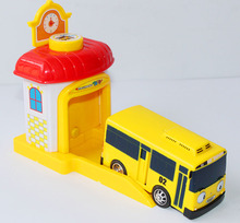 1Pcs Scale model tayo the little bus children miniature bus mini plastic baby toy car tayo bus Christmas gift
