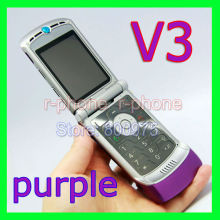 Original Motorola Razr V3 Mobile Phone Unlocked Russian Keyboard(China)