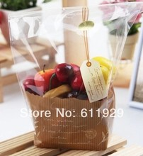 cake cookie bread plastic packing bags/self adhesive seal bags/hang tag image bags18x23X8cm, 190 pcs a lot free shipping