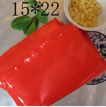 02.22/29*40cm clothes pacakging zipper lock recycle plastic bags , red bags ziplock , red bags plastic