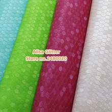 9pcs Alisa Glitter  Embossed Honeycomb Leather Fabric Faux Synthetic Leather  fit for DIY accessories Sewing GM049b