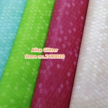 9pcs Alisa Glitter Embossed Honeycomb Leather Fabric Faux Synthetic Leather fit for DIY accessories Sewing GM049b(China)