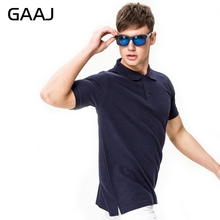 GAAJ New 2017 Men's Brand Polo Shirt For Men Polos Men 100% Cotton 22 Colors Short Sleeve Solid Shirt Clothes Wine Blue Grey Red(China)