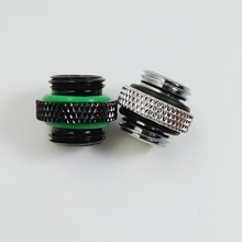 WinfMOD Silver Black Water Cooling G1/4'' Male to Male 5mm Extender Fitting