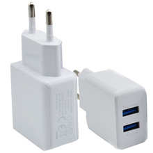 Best Price 3A 2 Ports EU Plug USB Wall Travel AC Charger Adapter For Samsung Galaxy For iPhone