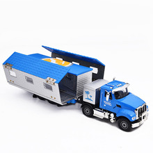 1:50 KDW Alloy Diecast Simulation Cars Model Kids Toys for Children Transformation RV CAR one layer Touring Bus in bog(China)