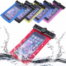Compass Waterproof Transparent PVC Pouch Dry Bag Case Sports Compasses for iphone 8/iphone x XIAOMI HuaWe LG Hot(China)