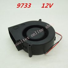 9733 blower Cooling fan 12 Volt Brushless DC Fans centrifugal Turbo Fan cooler radiator(China)