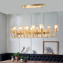 Post modern living room glass pendant lamp fashion sample room exhibition hall decoration lamp room Market crystal pendant light(China)
