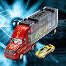 13pcs/lot Pull Back Diecast Metal Car Toys Children 12 Racing Car Toys Baby Mini Cars Car One Big Truck(China)