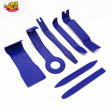 Hard Plastic 7pcs Auto Car Radio Panel Interior Door Clip Panel Trim Dashboard Removal Opening Tool Set DIY Car Repair Tool Kit(China)
