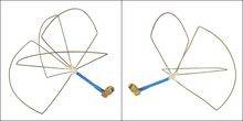 1.2G Mushroom Omni TX/RX Antenna Set for FPV 1.2Ghz Clover Circular Polarization Antenna Set.High Quality Hand Made All Of 1.2 G