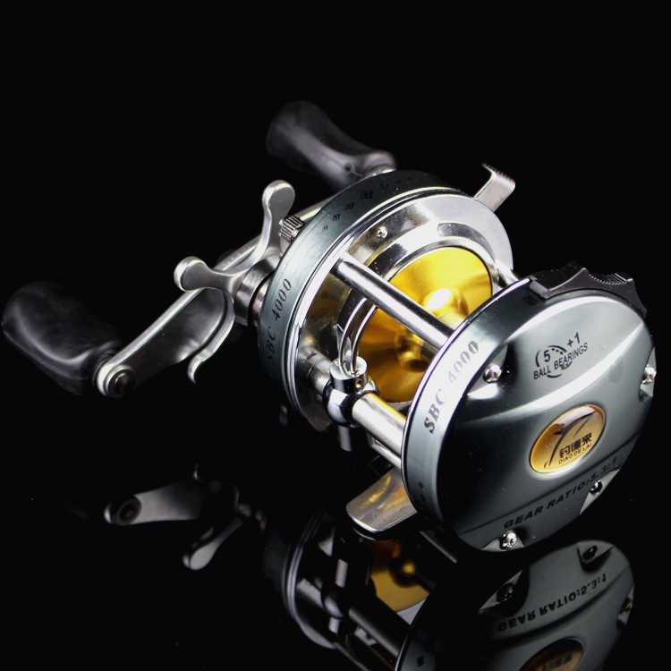 Fishing Tackle FDDL SBC4000 Series Fishing Reels 5+1BB Ball Bearing 5.3:1 Gear Ratio Aluminum Alloy Cast Drum Wheel Bait Casting<br><br>Aliexpress