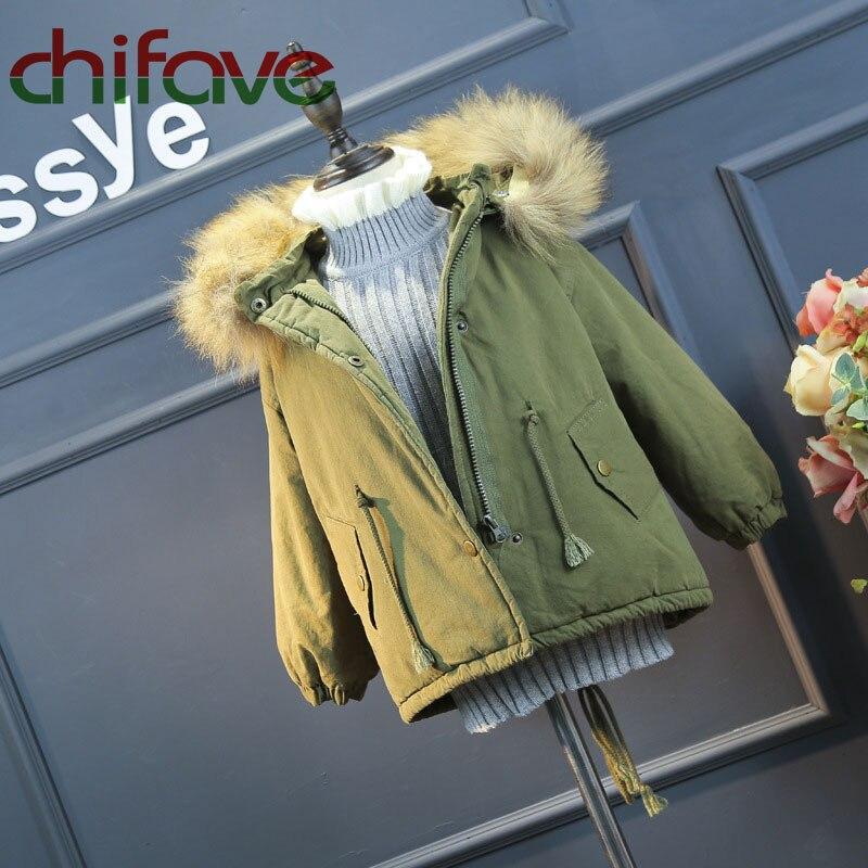2016 New Korean Winter Hooded Fur Collar Parkas Girls Warm Waist Long Sleeve Coat Fashion Children Clothing For 2-6 Ages GirlsÎäåæäà è àêñåññóàðû<br><br>