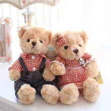 Nooer 30cm A Pair of Lover Plush Teddy Bear Toy Wedding Decoration Bear Dolls For Girls Valentine's Day Birthday Gift