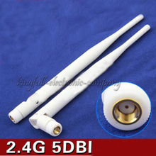 2.4G 5DBi WIFI Routing High-gain Omnidirectional Antenna SMA Female White in Selling