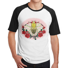 sacramento honeybee beehive queen rose tshirts 3/4 Sleeve graphic Casual men's(China)