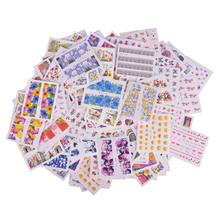 200PCS Mixed Water Sticker Nail Art Decorations Mixed Flower/Cartoon/Fruit Summer Polish Gel Manicure Tips Set STZ001-498(China)